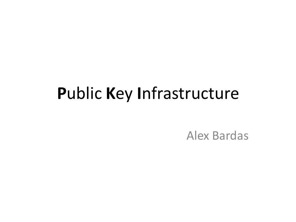 Public Key Infrastructure Alex Bardas
