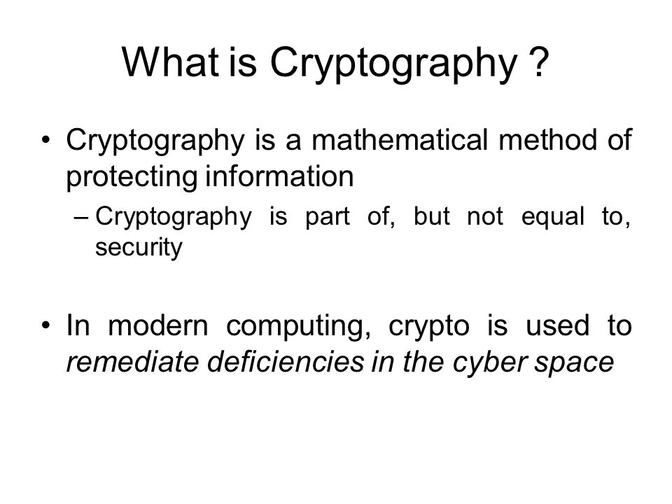 What is Cryptography .