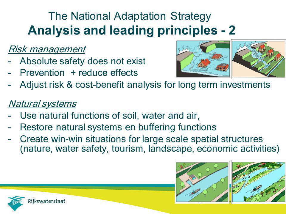 Rijkswaterstaat Waterdienst 18 The National Adaptation Strategy Analysis and leading principles - 2 Risk management -Absolute safety does not exist -P