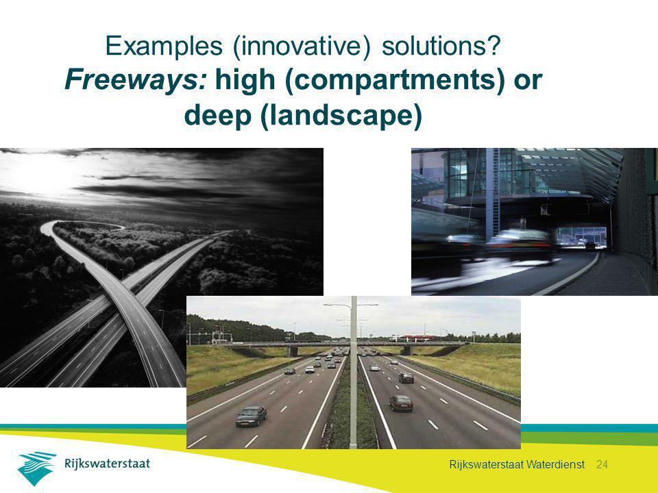 Rijkswaterstaat Waterdienst 24 Examples (innovative) solutions.