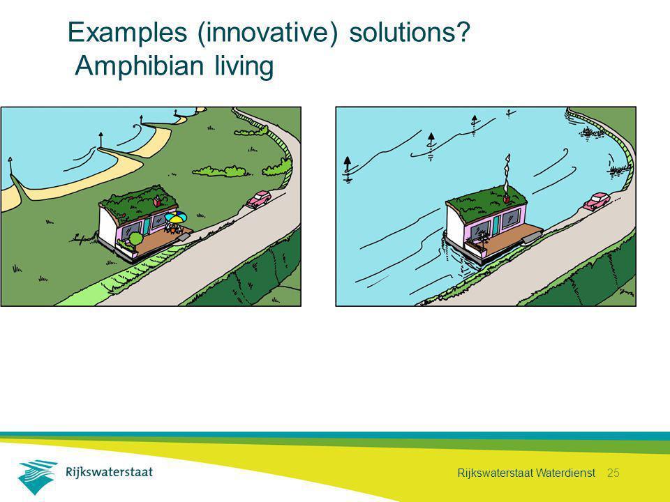 Rijkswaterstaat Waterdienst 25 Examples (innovative) solutions? Amphibian living