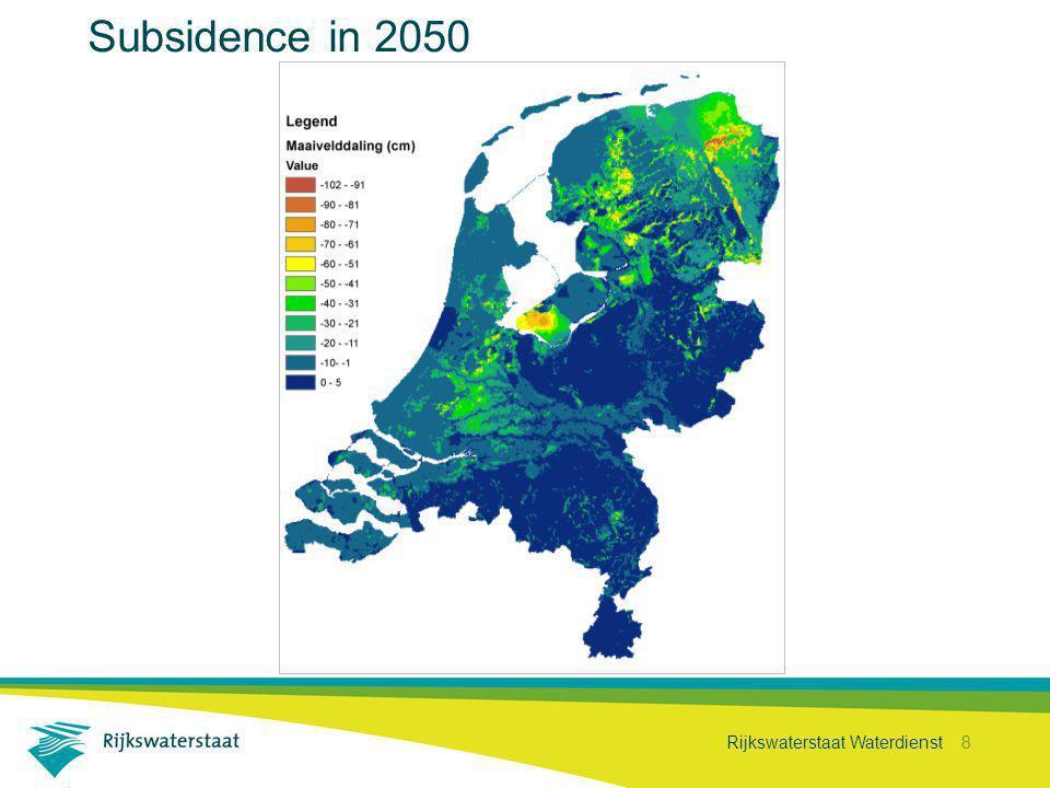 Rijkswaterstaat Waterdienst 8 Subsidence in 2050