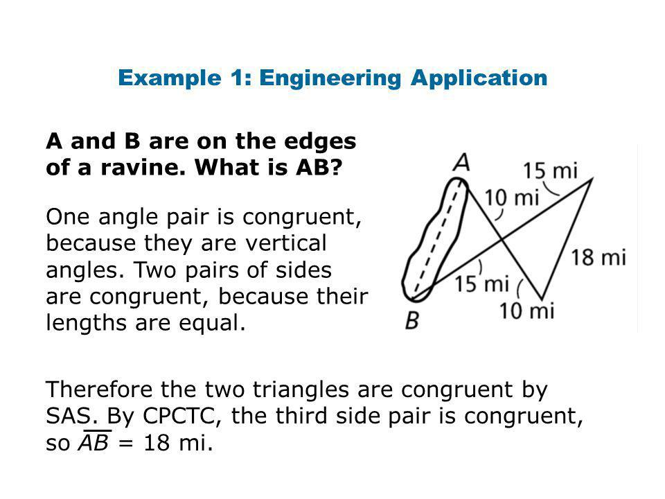 Example 1: Engineering Application A and B are on the edges of a ravine.