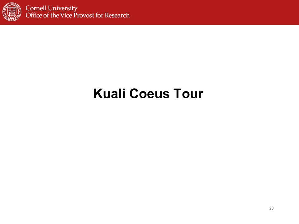 Kuali Coeus Tour 20