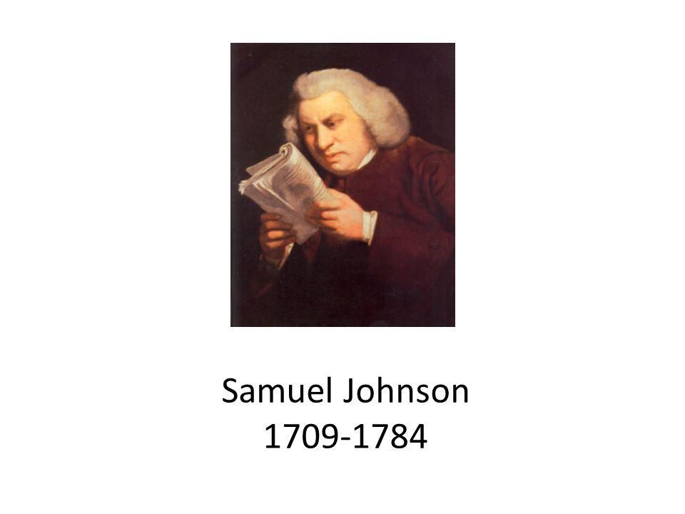 Samuel Johnson 1709-1784