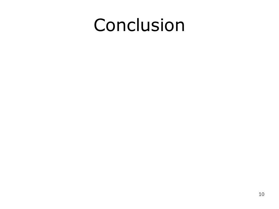 10 Conclusion