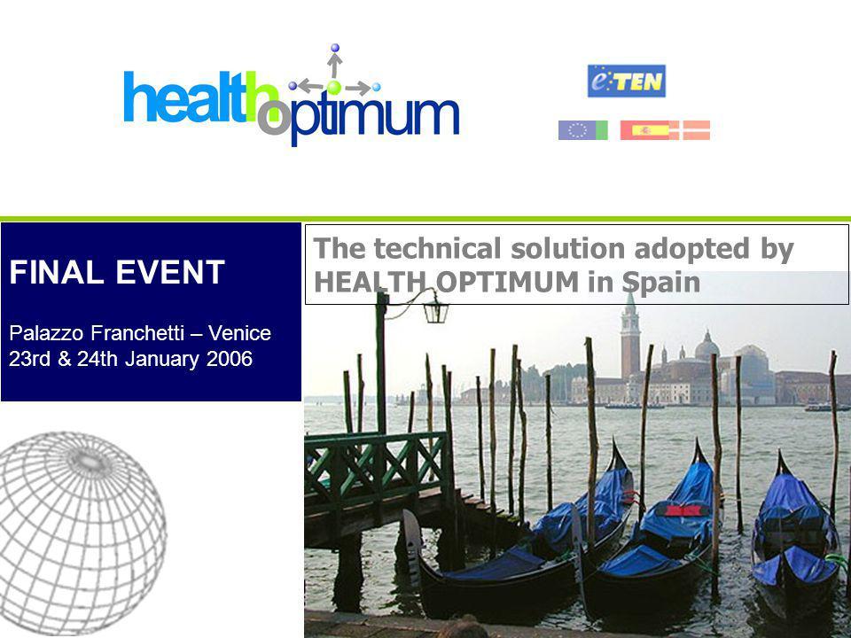 FINAL EVENT - Venice, 23rd & 24th January 2006 22 Tele-consultation