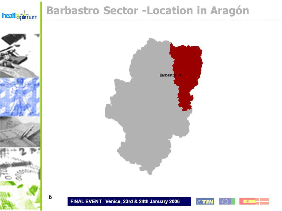 FINAL EVENT - Venice, 23rd & 24th January 2006 7 Barbastro Sector – Intersectorial Map