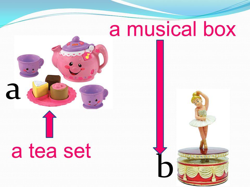 a b a tea set a musical box