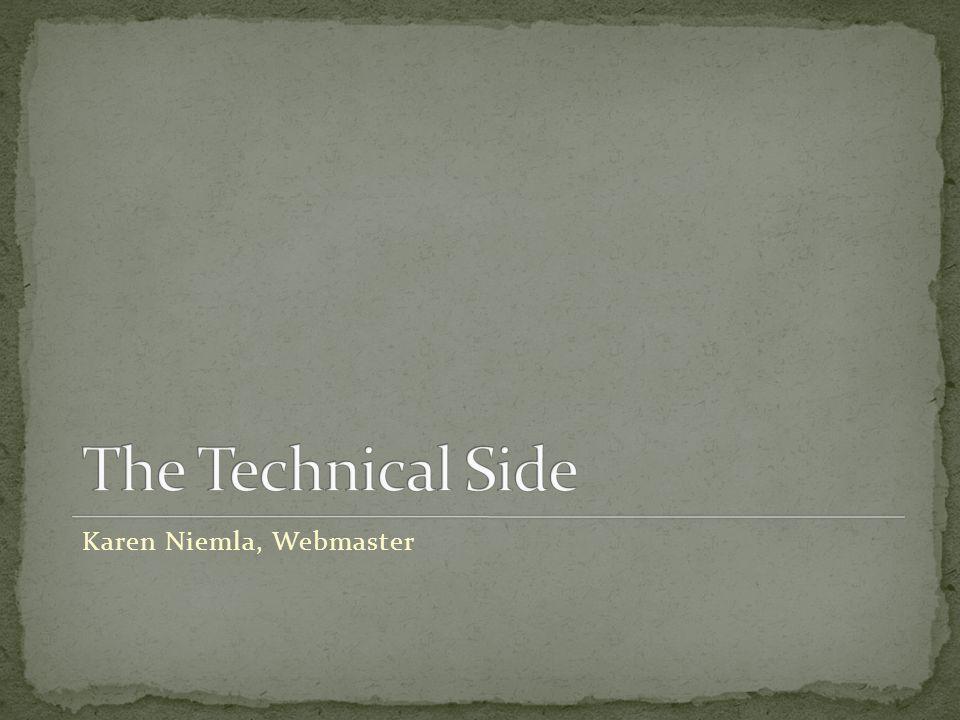 Karen Niemla, Webmaster