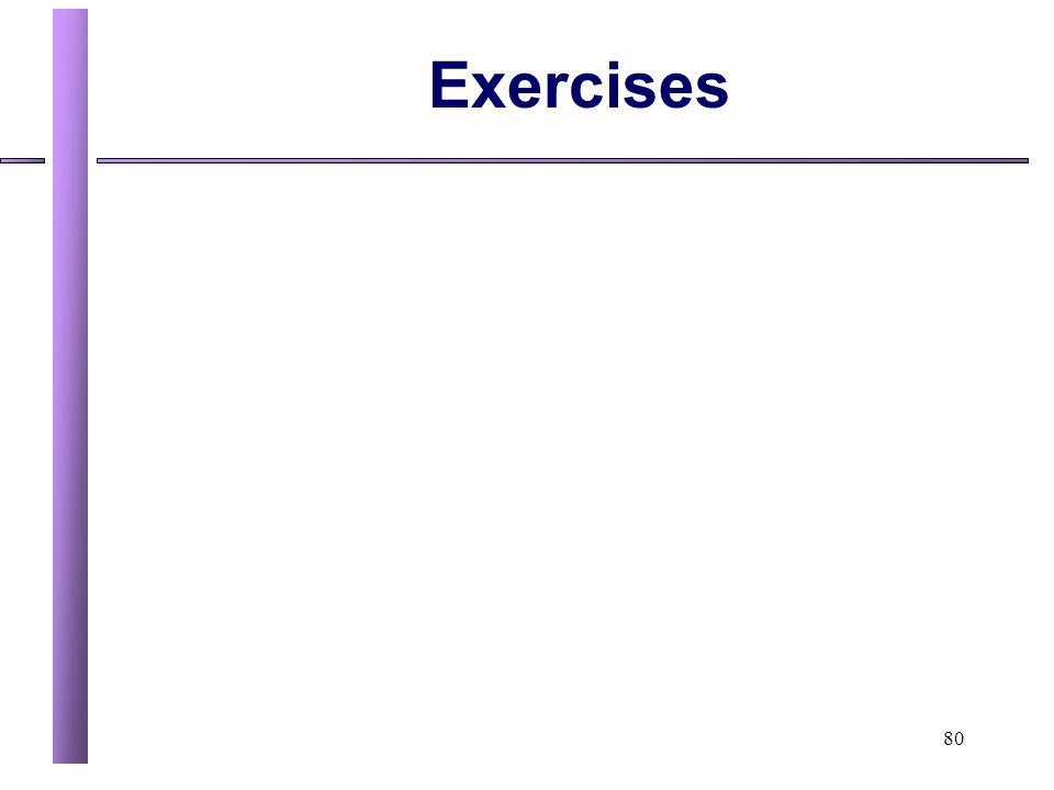 80 Exercises