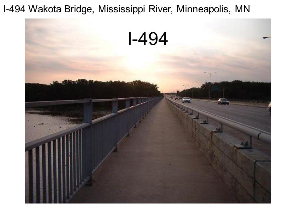 I-494 Wakota Bridge, Mississippi River, Minneapolis, MN I-494