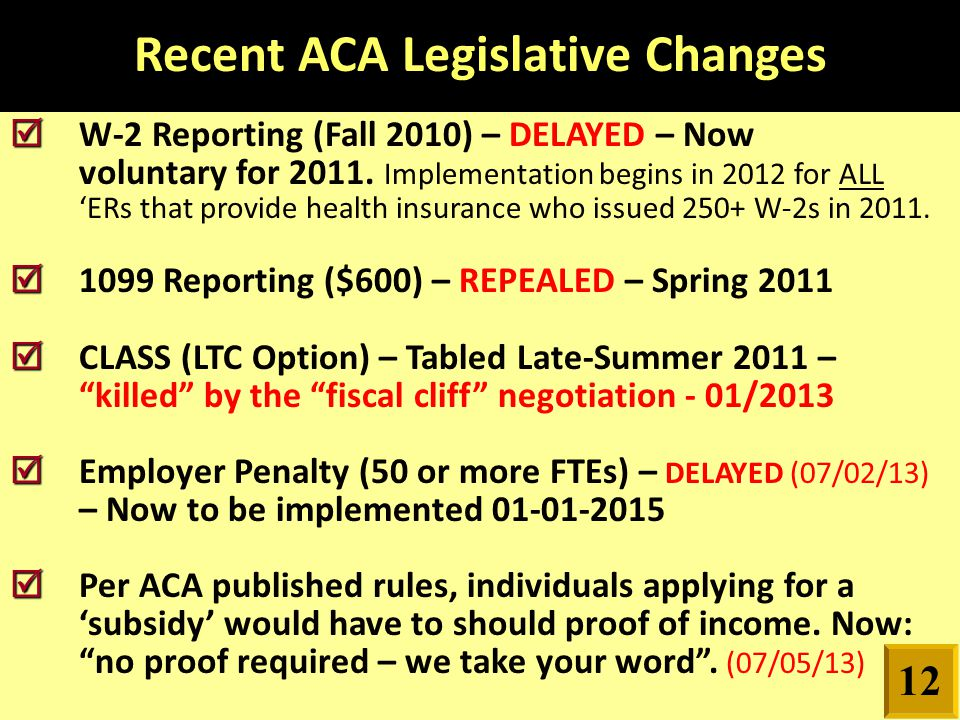   W-2 Reporting (Fall 2010) – DELAYED – Now voluntary for 2011.
