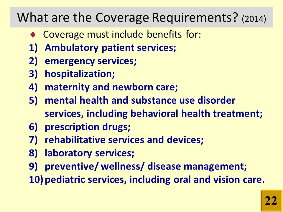 What are the Coverage Requirements.