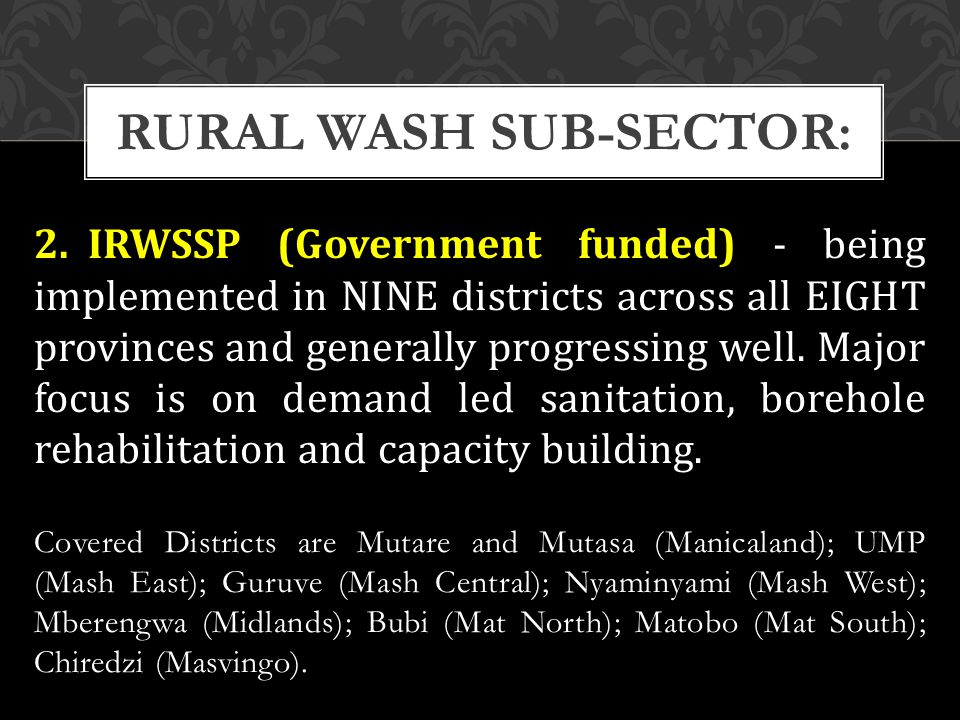 3.RWP-District sensitisation and planning meetings completed in all 33 districts.