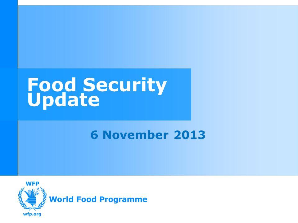 Food Security Update 6 November 2013