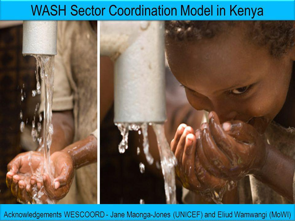 WASH: Who is doing What Where (in Kenya) - as of September 2012 GoK