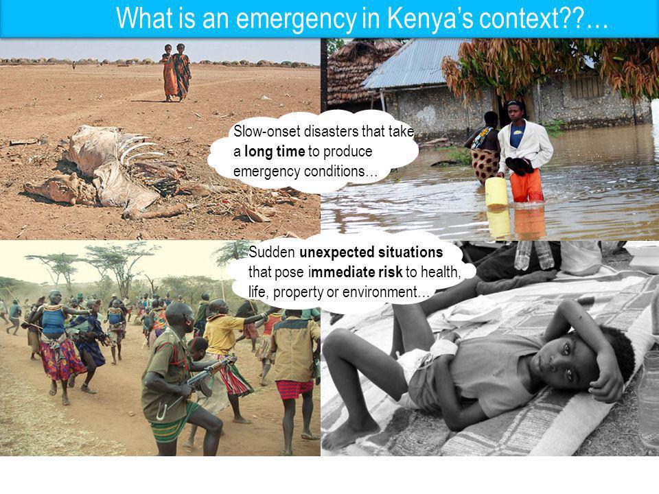 Kenya : Disaster Profile GoK Conflict hotspots
