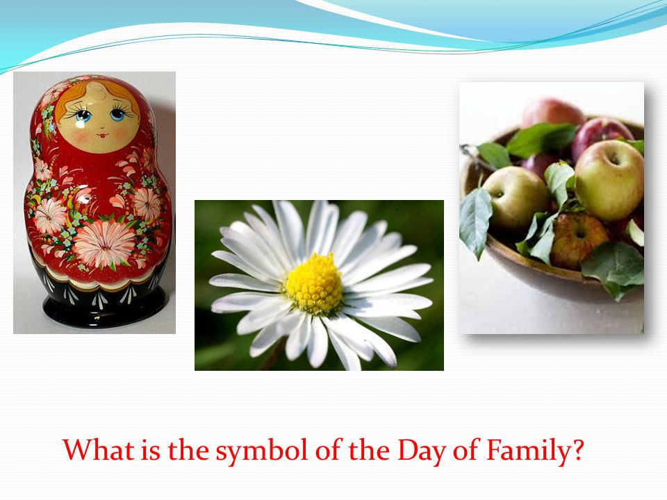 What is the symbol of the Day of Family?