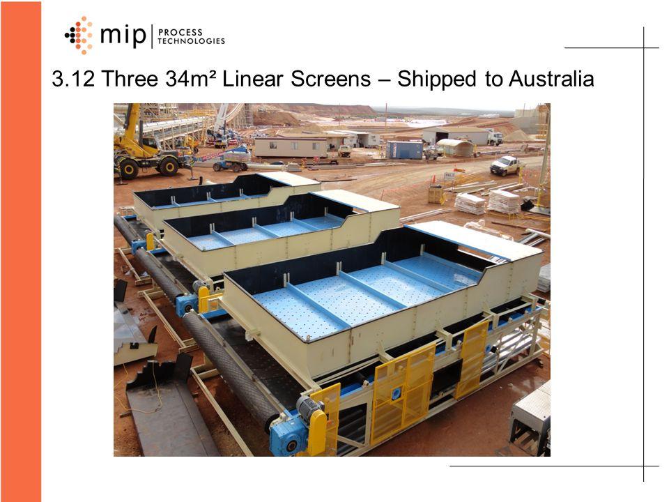 3.12 Three 34m² Linear Screens – Shipped to Australia