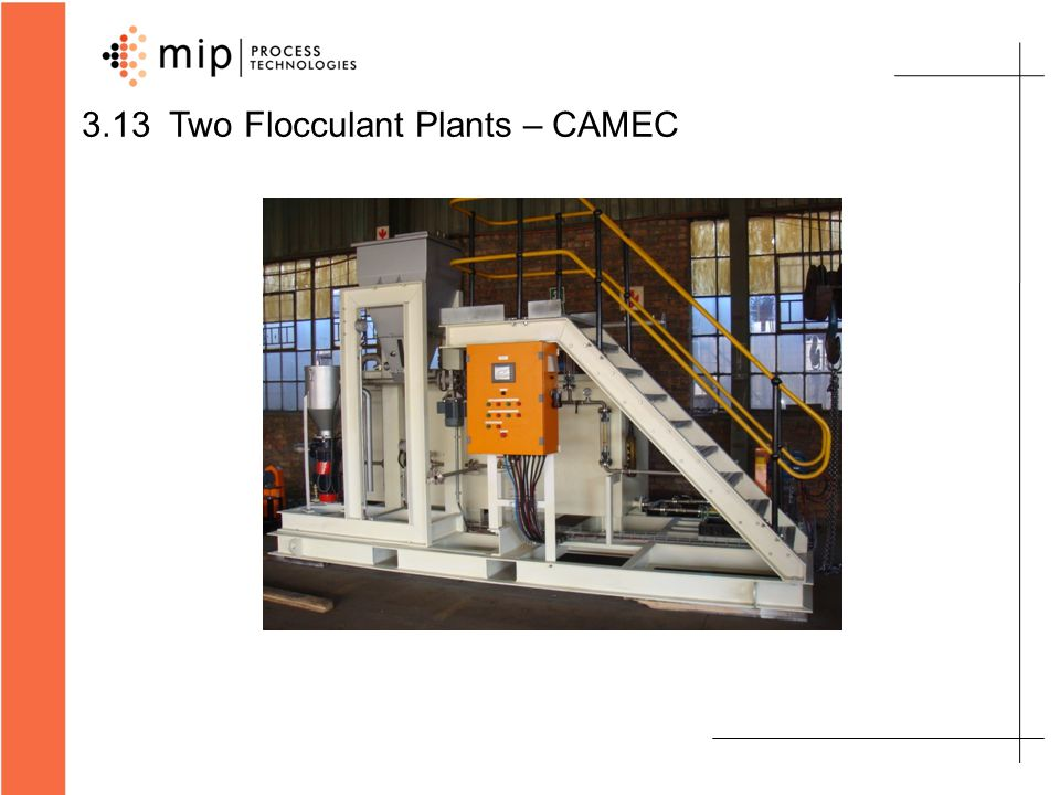 3.14 MIP-200 Flocculant Plant for Kumba – Sishen South