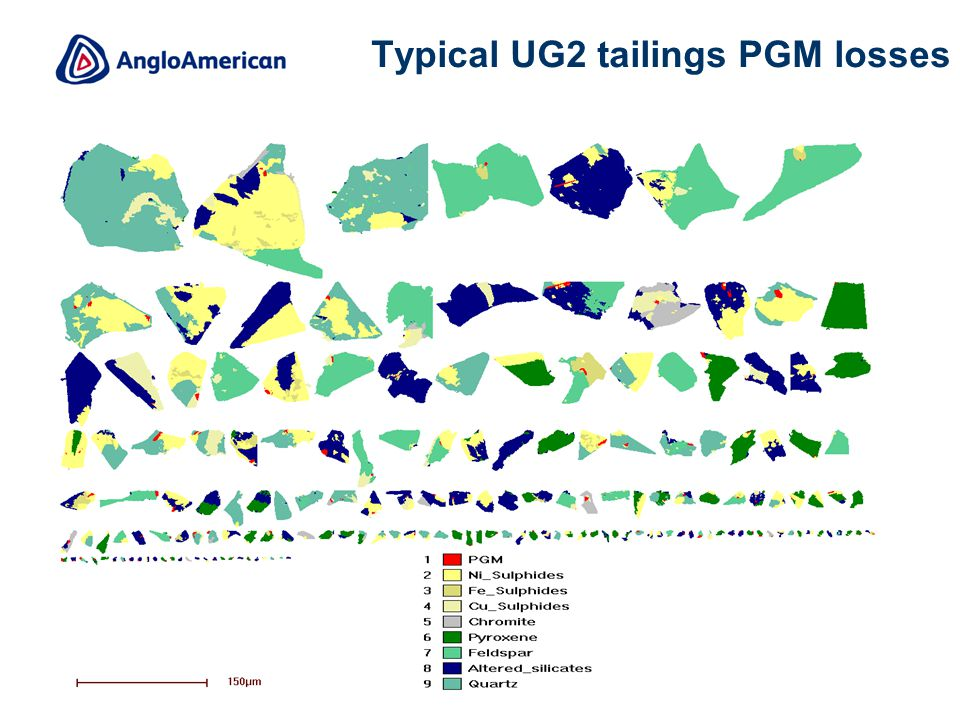 9 Typical UG2 tailings PGM losses