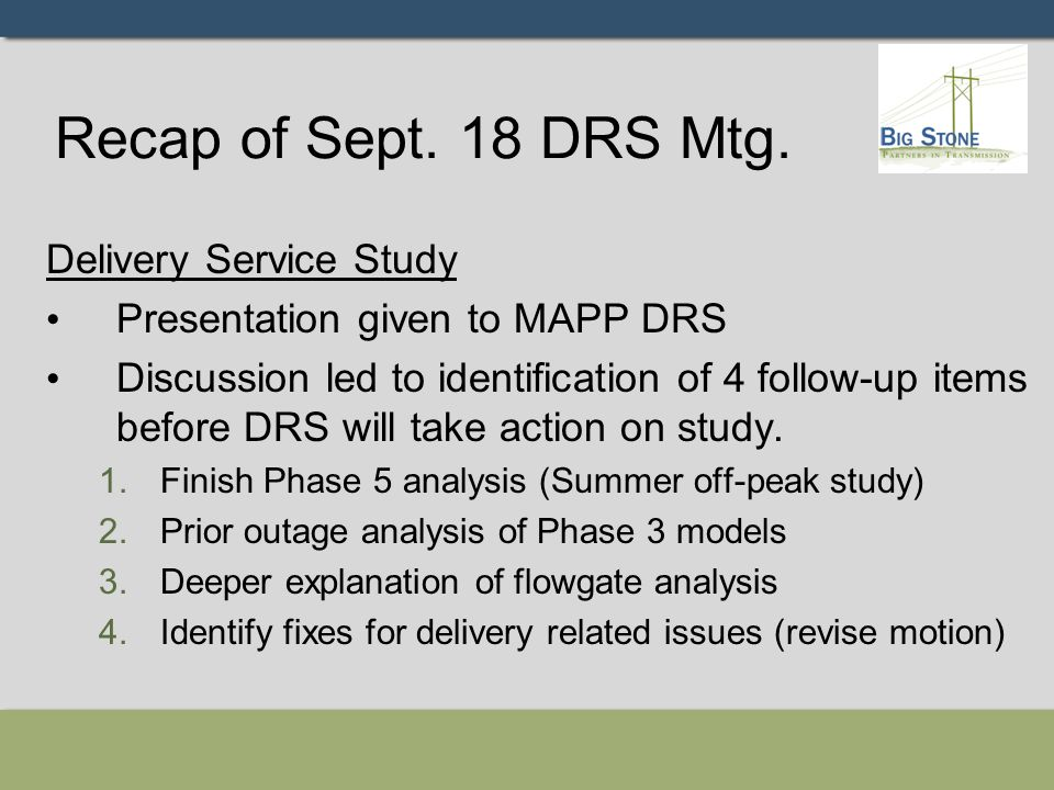 Phase 5 – Summer off-peak High Simultaneous transfer case Phase 5 only for DRS review.