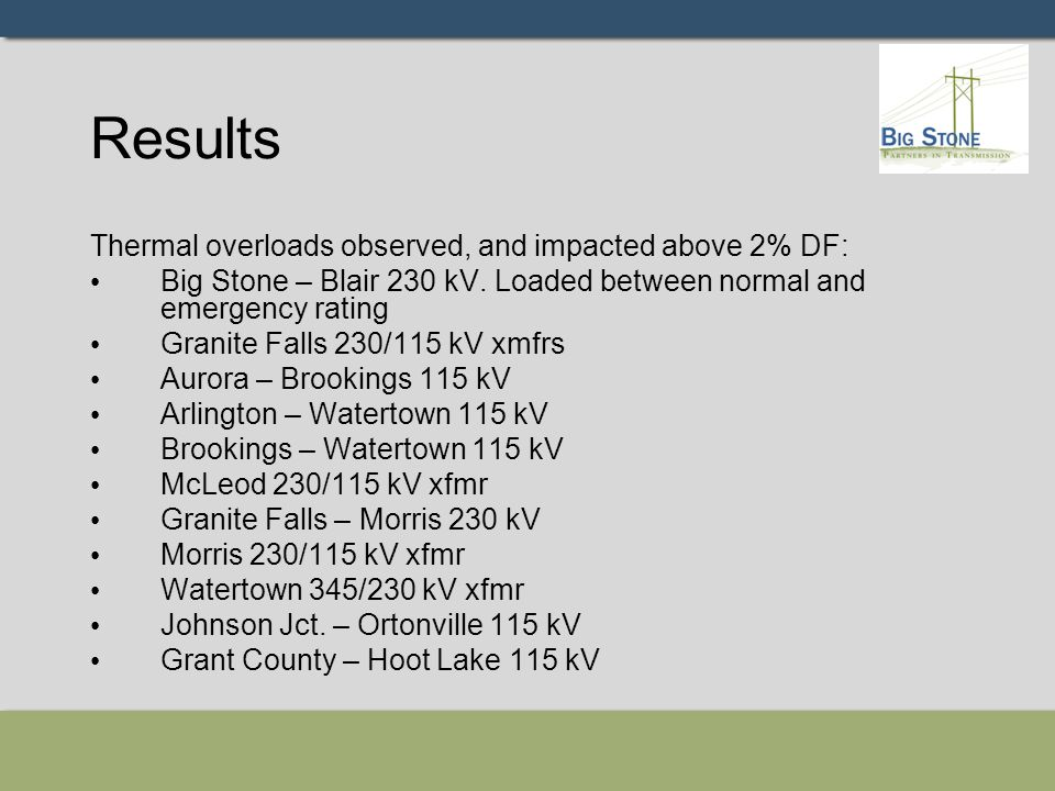 Results - continued Part of this study is to identify if TTC of interfaces would be reduced because of this project.