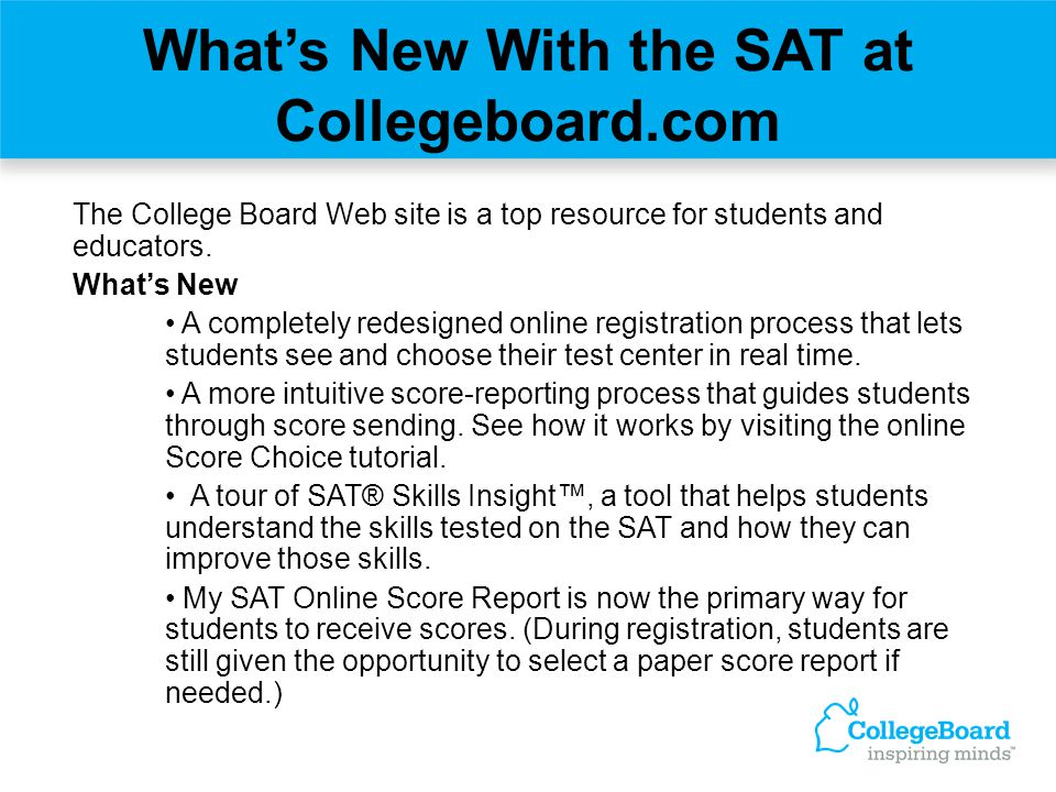 SAT Counselor Resource Center The Counselor Resource Center (CRC) is an online destination created for counselors.