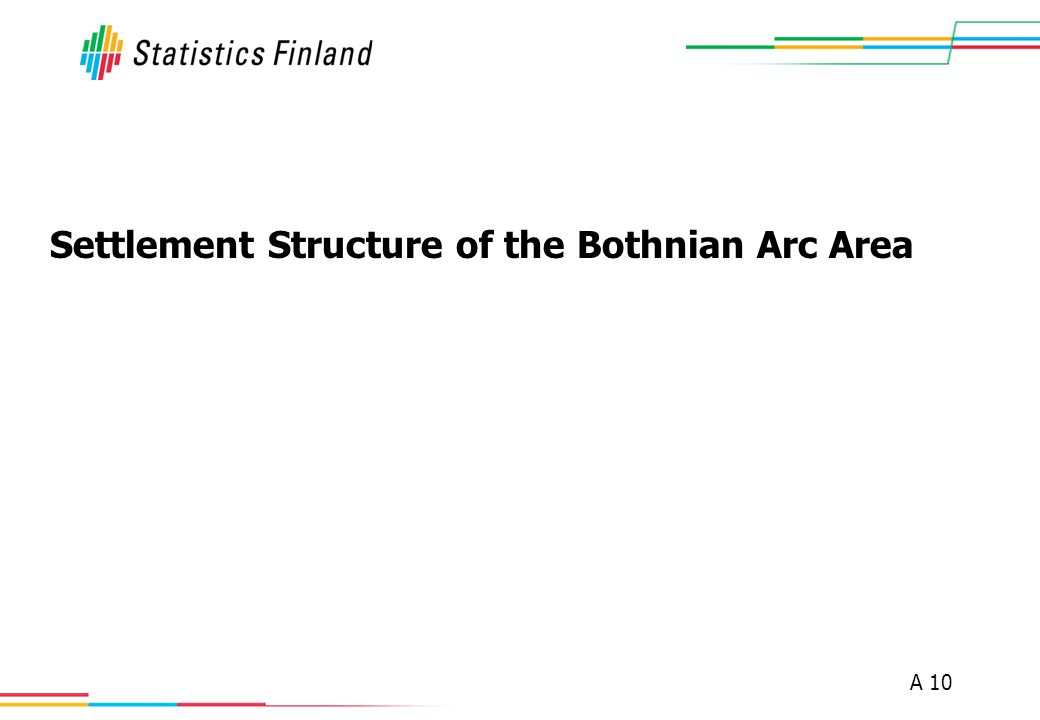 A 10 Settlement Structure of the Bothnian Arc Area