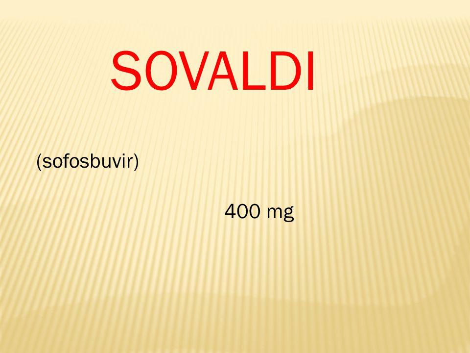 SOVALDI (sofosbuvir) 400 mg