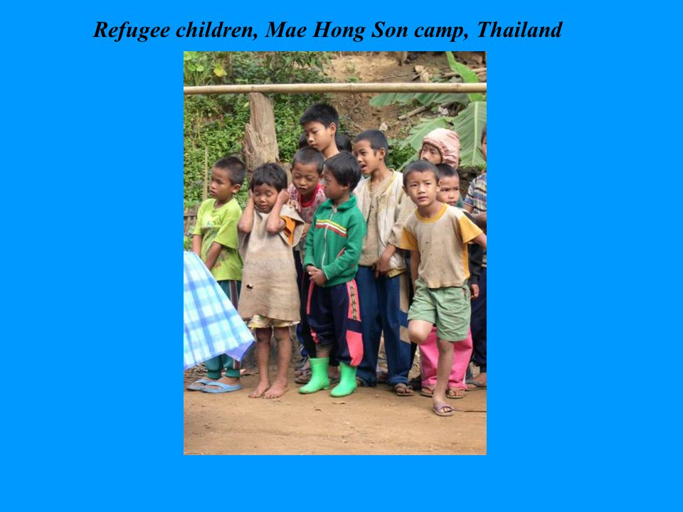 Refugee children, Mae Hong Son camp, Thailand