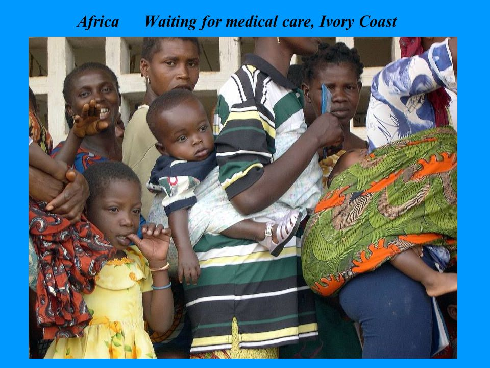 Africa Waiting for medical care, Ivory Coast
