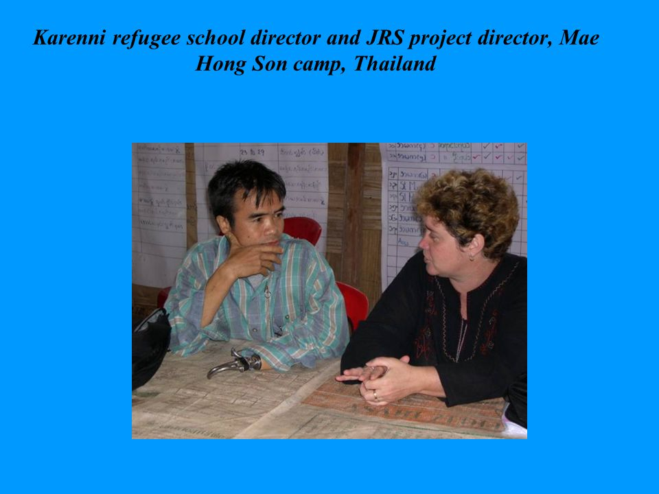 Karenni refugee school director and JRS project director, Mae Hong Son camp, Thailand