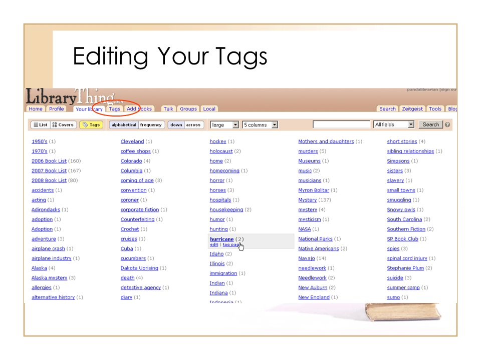 Editing Your Tags