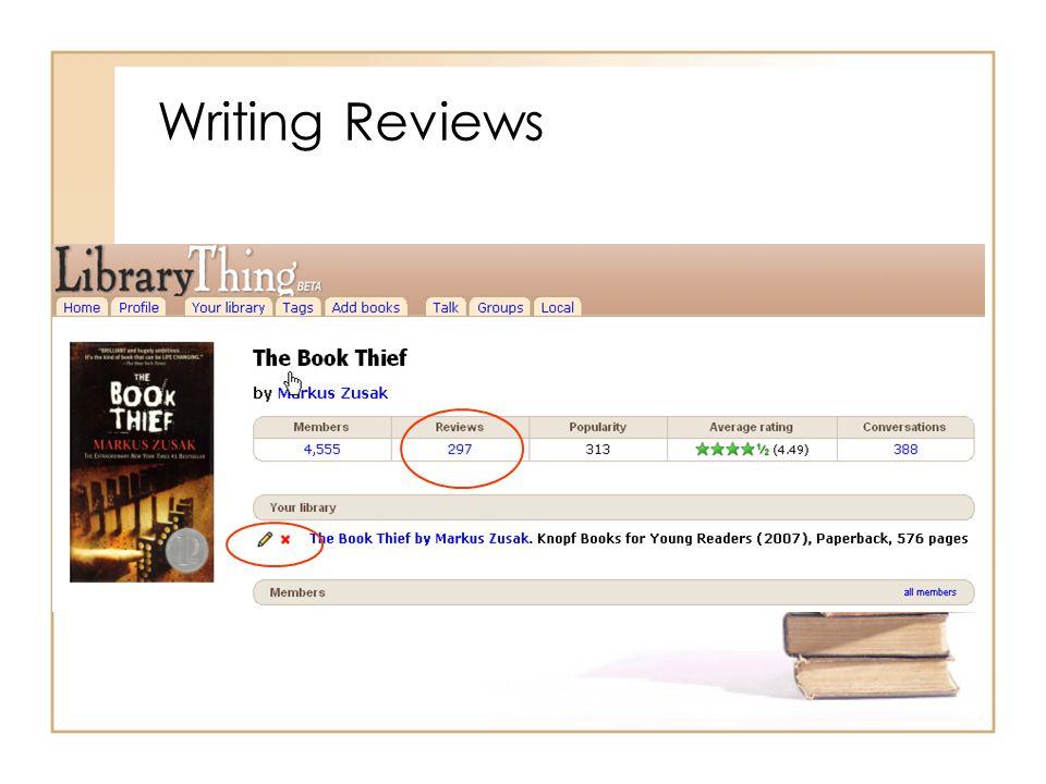 Writing Reviews