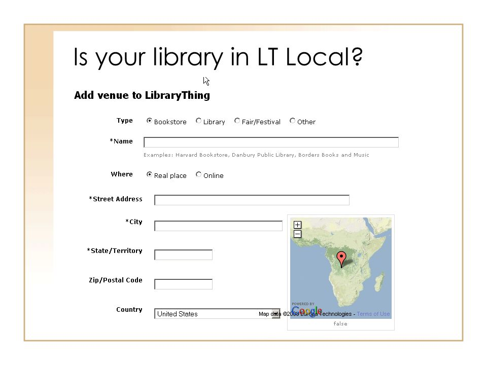 Is your library in LT Local?