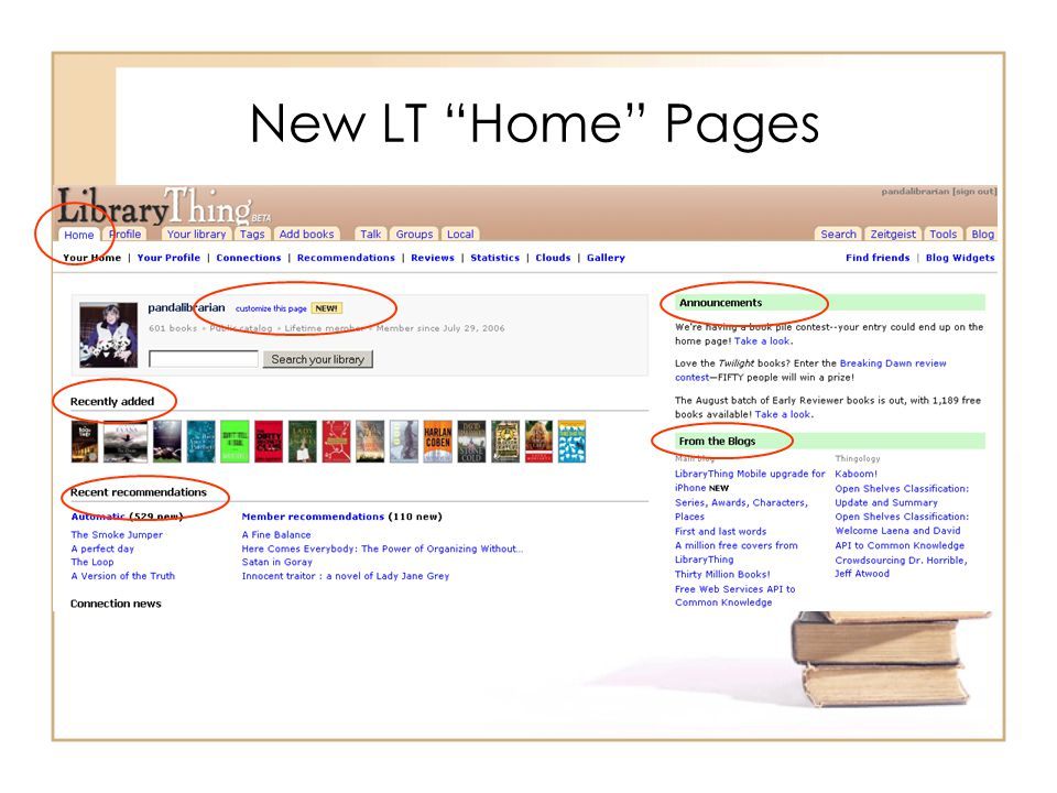 New LT Home Pages