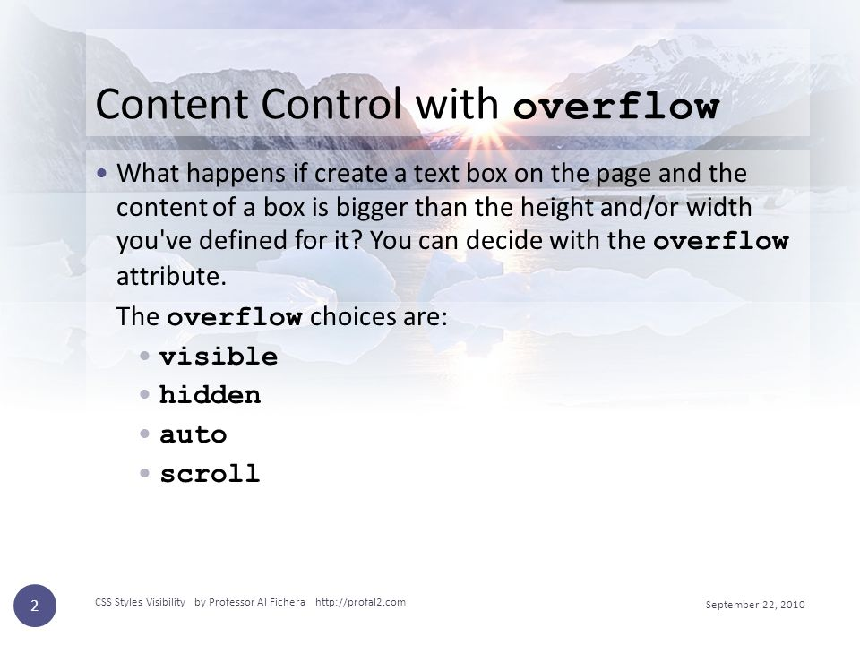 Content Control with overflow What happens if create a text box on the page and the content of a box is bigger than the height and/or width you ve defined for it.