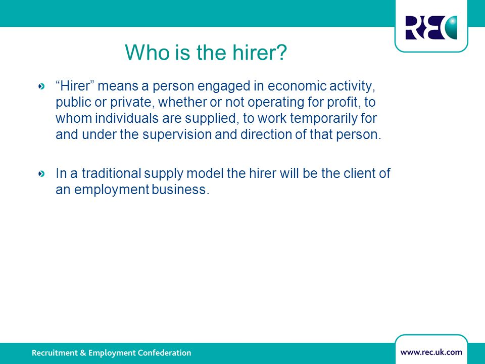 Information requests to the hirer If the agency worker does not receive a reply from the temporary work agency within 28 days, after 30 days, the same request can be made directly to the hirer.