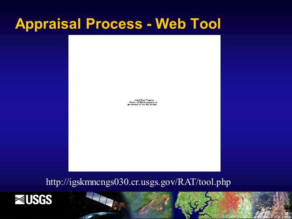 Appraisal Process - Web Tool http://igskmncngs030.cr.usgs.gov/RAT/tool.php