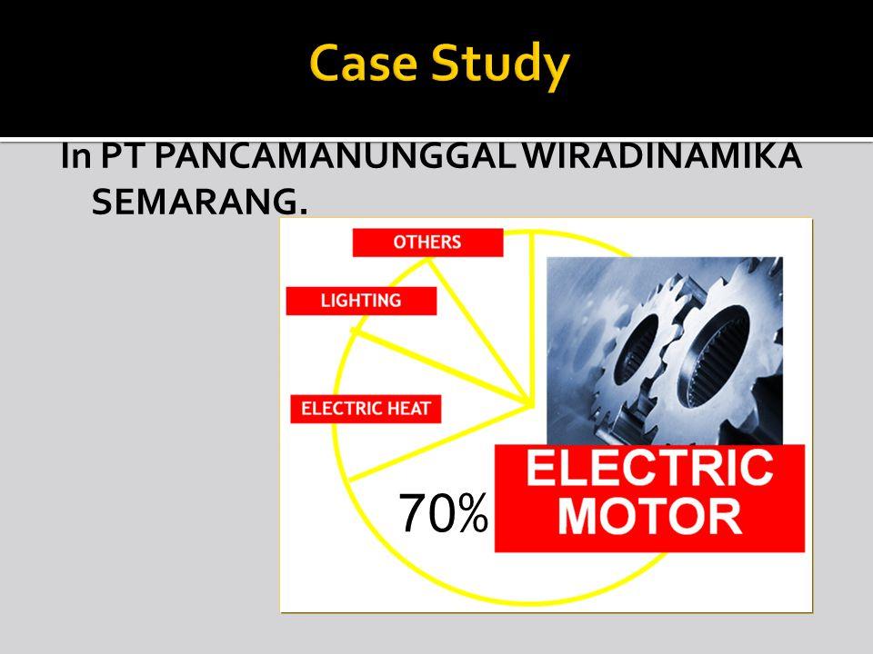 In PT PANCAMANUNGGAL WIRADINAMIKA SEMARANG. 70 %