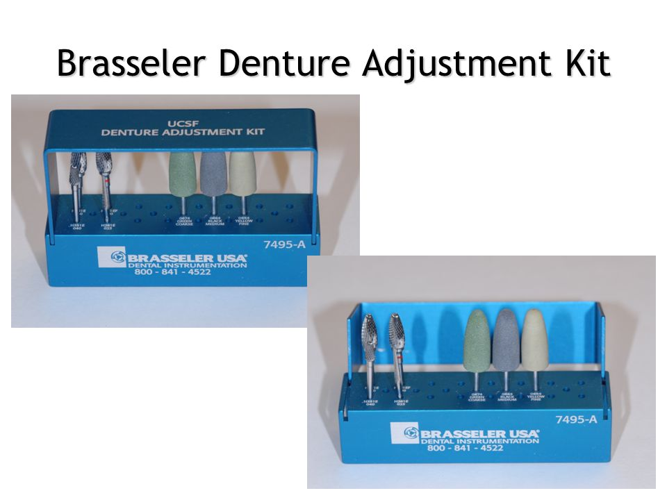 Brasseler Denture Adjustment Kit