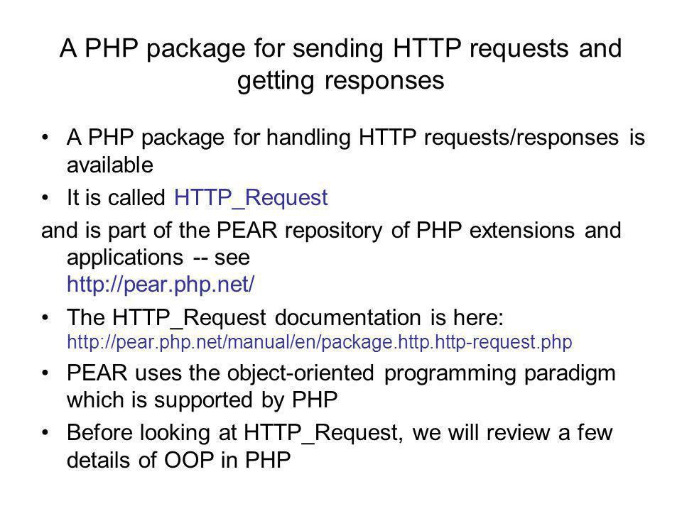 OOP in PHP (contd.) The object model in PHP was rewritten for PHP 5 The PHP manual contains two main section on OOP: –Chapter 18.