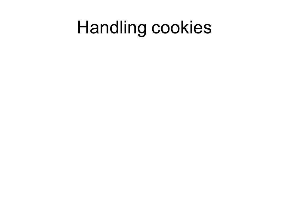 Handling cookies