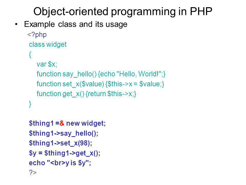 Example HTTP client program in PHP <?php require_once HTTP/Request.php ; $req = & new HTTP_Request( http://www.rte.ie/ ); if (!PEAR::isError($req->sendRequest())) { $contents= $req->getResponseBody(); echo $contents; } ?> Note we have not handled fact that some URLs on RTE site are relative Thus, output (top image) not quite right; should be as in bottom inage