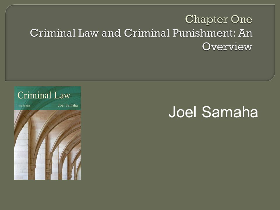  Trend from common law crimes at beginning of our nation to predominantly codes  Model Penal Code (MPC) ALI Final version 1962 Followed by most, but not all states No state has adopted MPC in its entirety Common denominator of American Criminal Law