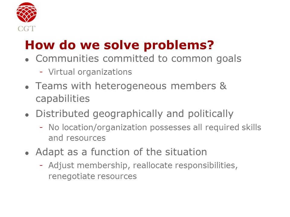 How do we solve problems.