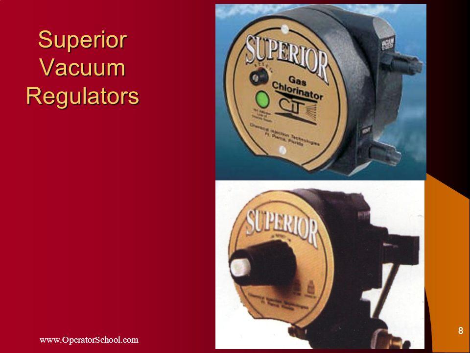 www.OperatorSchool.com 8 Superior Vacuum Regulators
