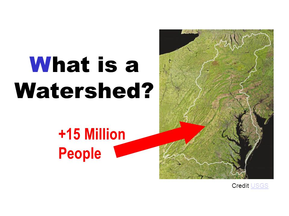 What is a Watershed +15 Million People Credit USGSUSGS